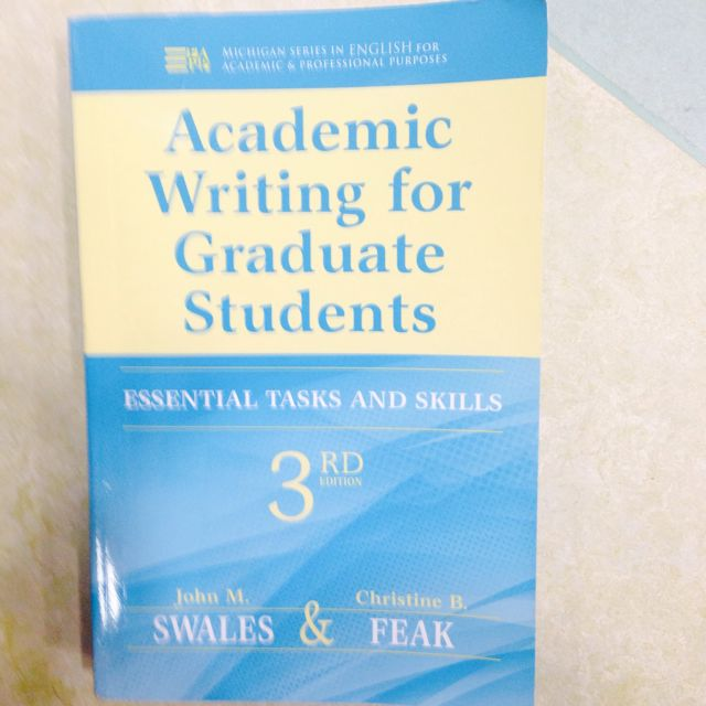 Academic Writing For Graduate Students 3rd Edition Books
