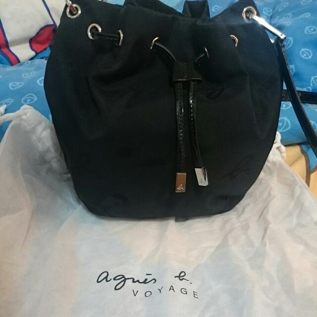 Agnes b 斜背包 黑色 日本帶回 小B