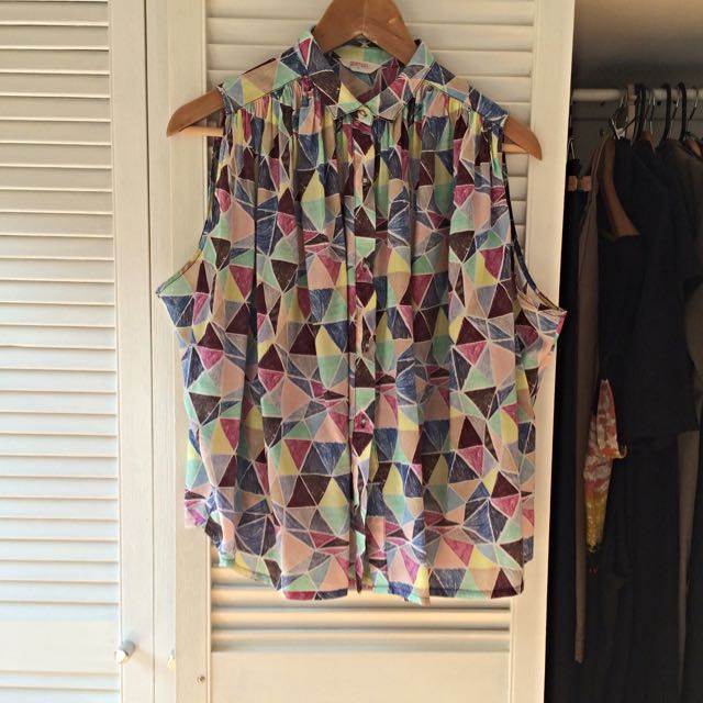Gorman Sleeveless Shirt Size 10 RRP $150