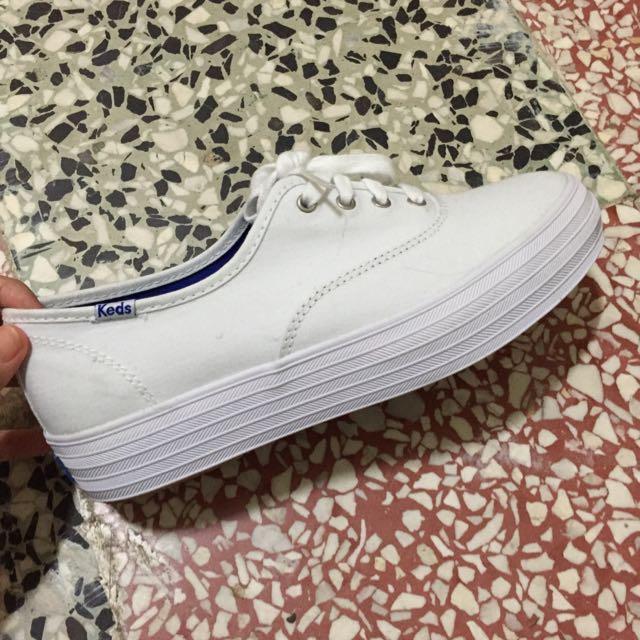 正版 Keds 白 增高鞋 高筒鞋 泰勒絲 krystal 代言