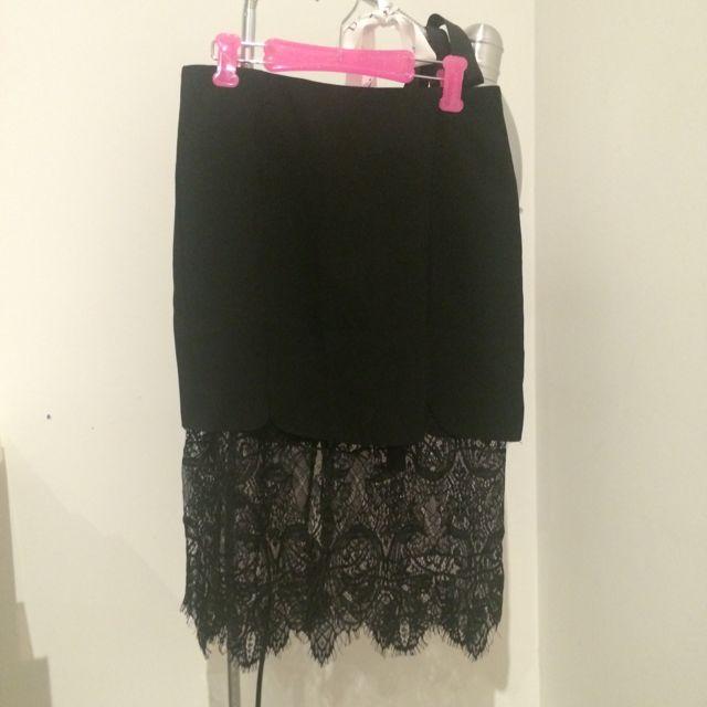 Lace Black Skirt Size 0