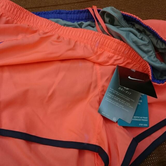 年終特價NIKE正品當季粉橘色運動短褲 美國直銷(朋友帶回因為太大才割愛的)