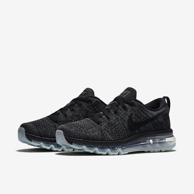bdae206fbbb7 Nike Flyknit Air Max (Women) - Black Dark Grey Anthracite Black ...