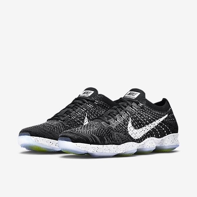 a4b0fefe1882 Nike Flyknit Zoom Agility (Women) - Black Dark Grey Volt White ...