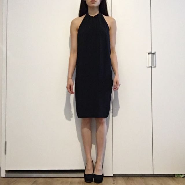 Zara Basic Open Back Dress
