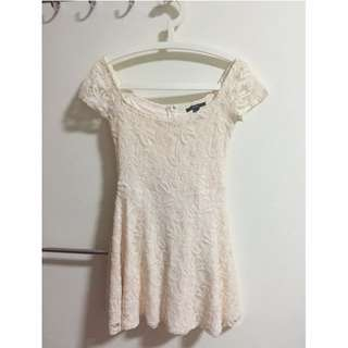 Cream Lacey Dress