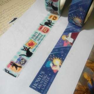 宮崎駿 魔女宅急便 霍爾的移動城堡 紙膠帶