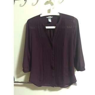 Maroon Work Blouse