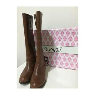 保留💁🏻💁🏻 Amai 復古長靴/咖啡/修飾款
