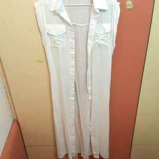 全白長襯衫(全新)