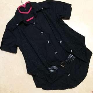 ‼️降價‼️ OL 假兩件 皮帶扣環 氣質 襯衫