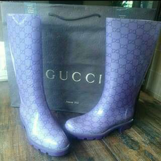 Authentic New Gucci Rainboots. Size 35. Clearance! No Trades!