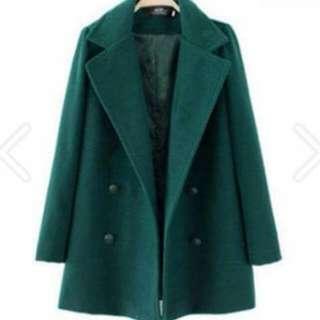 (全新)冬季保暖毛呢大衣