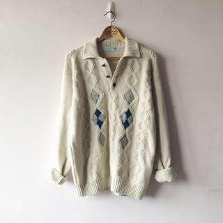 米白色古著套頭毛衣 Vintage