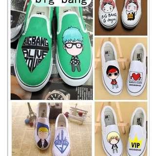 BIG BANG hand painted shoes