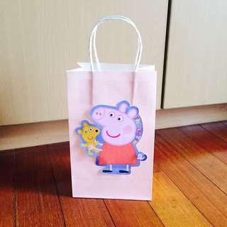 Handmade Peppa Pig Paper Party/ Goodie Bag