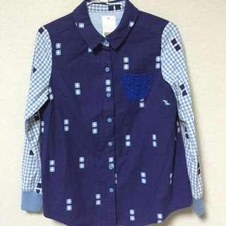 (保留)GOZO 長袖襯衫 (M號) 穿過一次