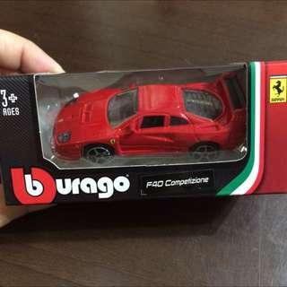 F40 Competizione【現貨】,義大利原廠授權(!!) Burago  1/64 法拉利RACE&PLAY 合金小車