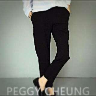 全新‼️褲腳小開口寬鬆西裝褲