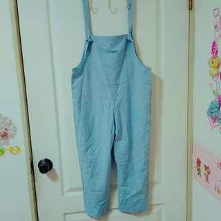 新!💧水藍色吊帶褲