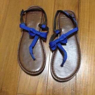 全新AF蝴蝶結涼鞋
