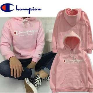 Champion粉色帽T