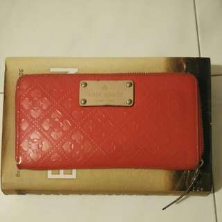 Authentic Red Kate Spade Long Wallet