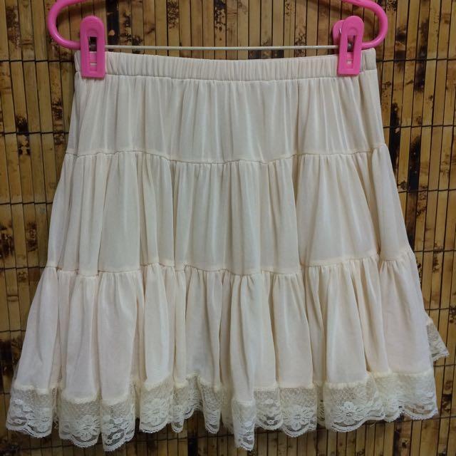 夢幻蕾絲短裙