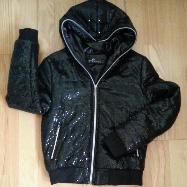 黑色亮片外套