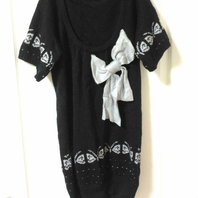 蝴蝶結毛衣洋裝