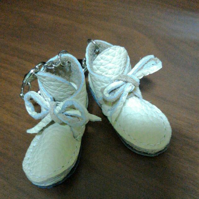 皮革 鞋子 吊飾 手工