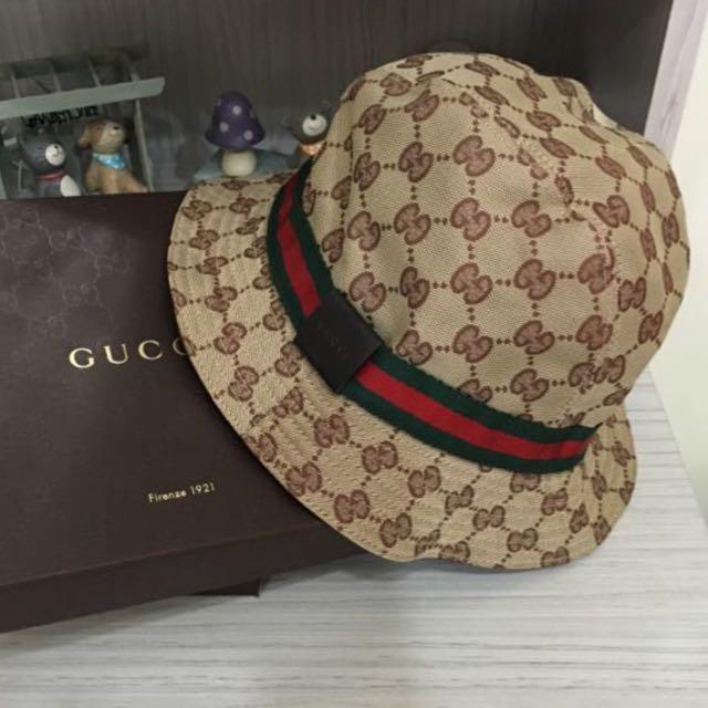 👍降售 Gucci 二手漁夫帽