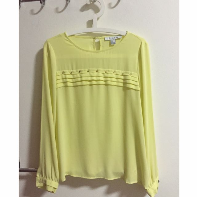 Canary Yellow Blouse