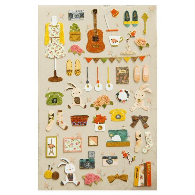 韓國Funny Day貼紙/拍立得/手帳/行事曆/日記/卡片/裝飾