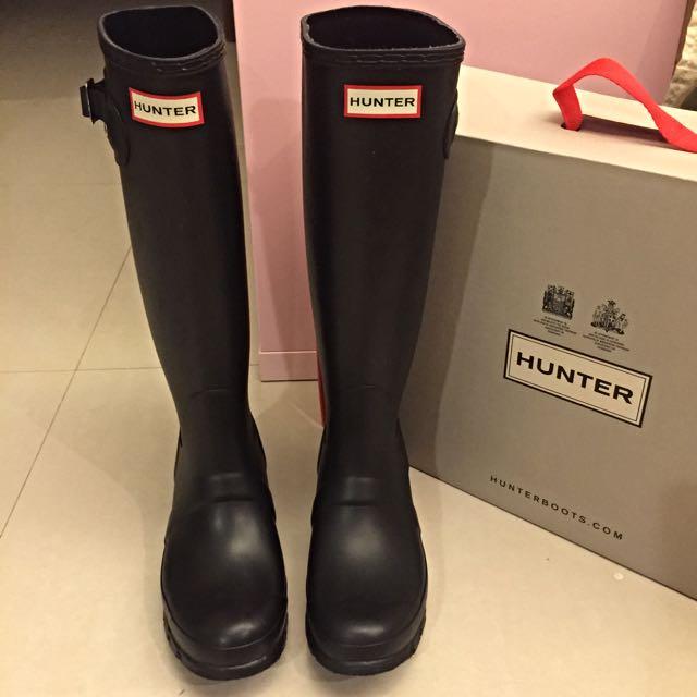 HUNTER黑色雨靴