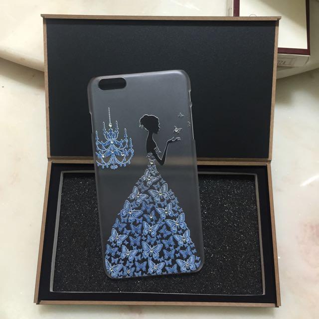 iphone6 plus公主貼鑽手機殼