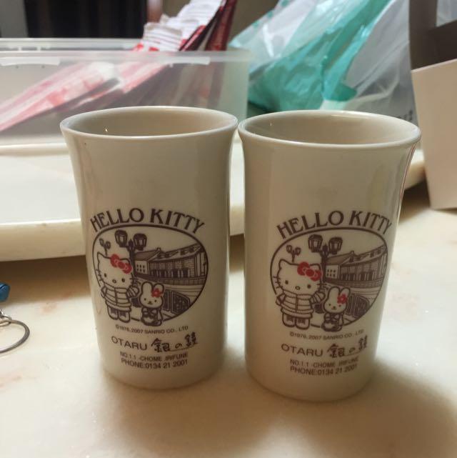 札幌小樽kitty玻璃杯