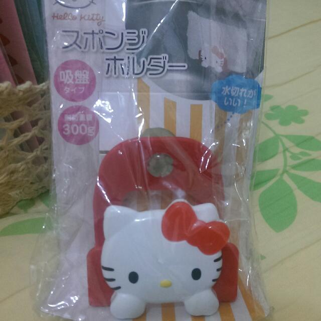可愛Kitty菜瓜布吸盤盒