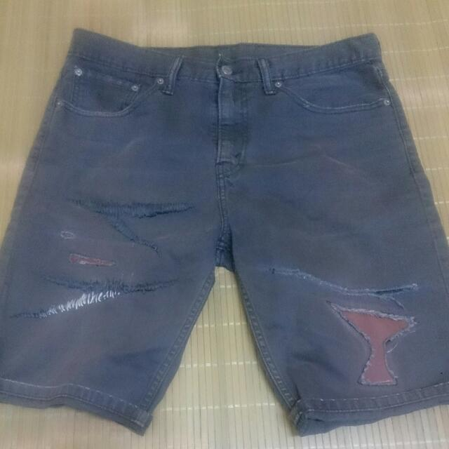 Levis 508 真皮 破壞補丁 短褲