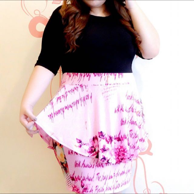 Peplum Dress - Pink