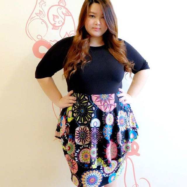 Peplum Dress- Black