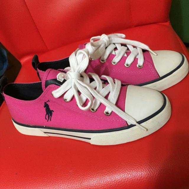 Polo正品大童女帆布鞋