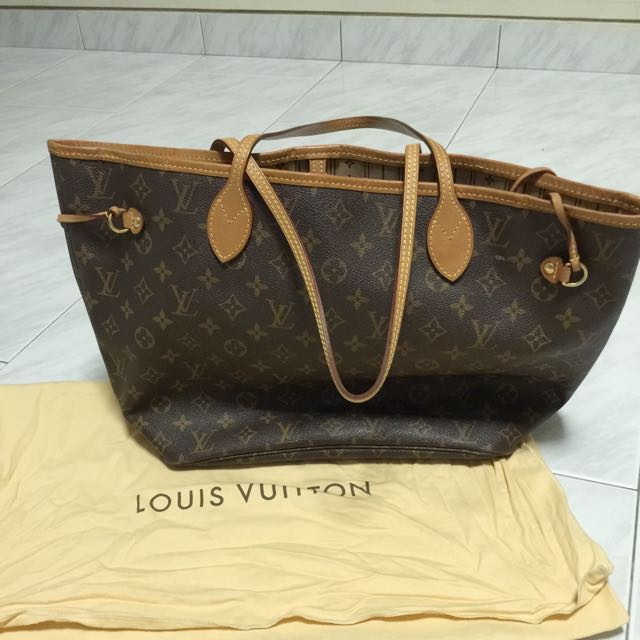 561e48d39c3f Preloved Authentic Louis Vuitton Neverfull Mm Monogram.