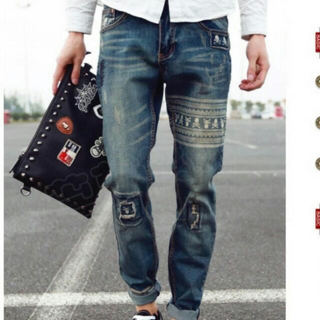 *S韓國、潮流造型牛仔褲