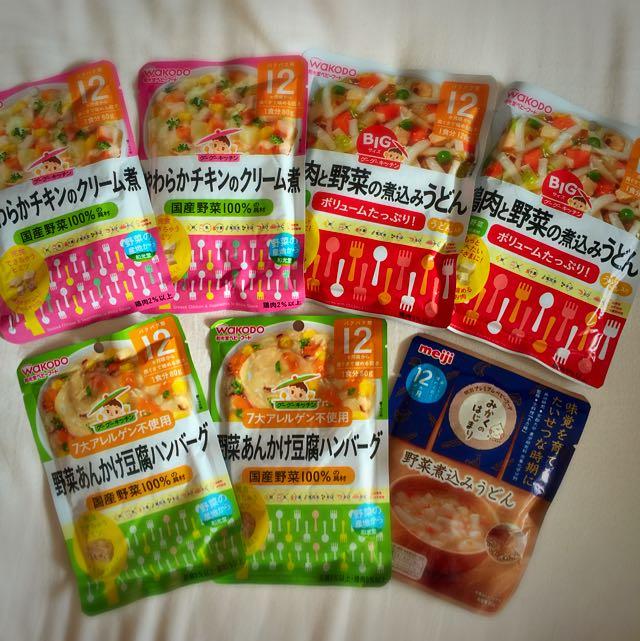 日本和光堂WAKODO.明治meiji 12個月以上離乳副食品共7包(其中2包為120g5包為80g)含運