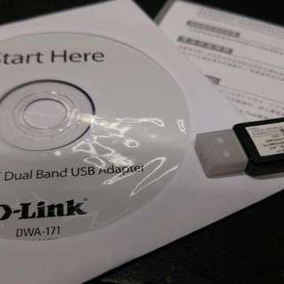d-link Dwa-171 usb雙頻無線網卡