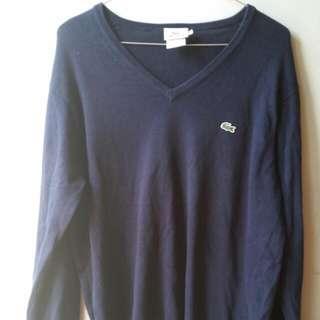 Navy Lacoste Pullover S V Neck