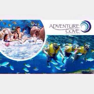 A Pair Of Adventure Cove Physical Ticket