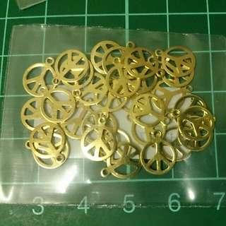 黃銅和平造型吊片