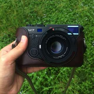 Leica M7 Body + Artisan Leather Case ( Brown )